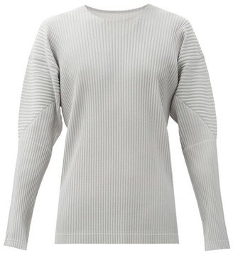 Homme Plissé Issey Miyake Technical-pleated Long-sleeved T-shirt - Grey