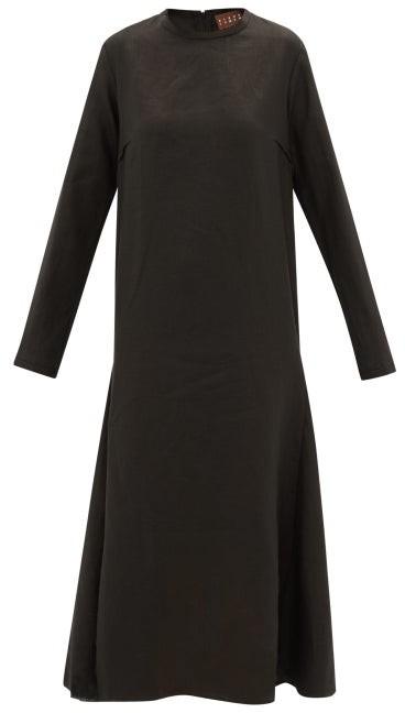 ALBUS LUMEN Tula Linen Dress - Black