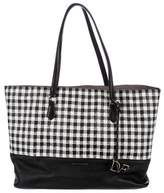 Diane von Furstenberg Gingham Leather Tote