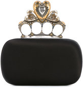 Alexander McQueen Heart Knuckle box clutch - women - Silk/Viscose - One Size