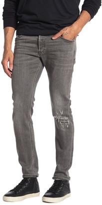 Diesel Sleekner Distressed Knee Slim Jeans
