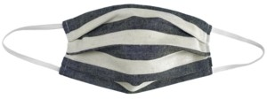 Paddy Lee Fashions Adult Striped Pleated Cloth Face Mask