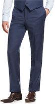Tommy Hilfiger Blue Sharkskin Classic-Fit Pants