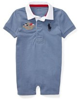 Ralph Lauren Rugby Jersey Polo Shortall, Blue, Size 3-18 Months