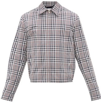 Lanvin Checked Technical Canvas Jacket - Mens - Blue Multi