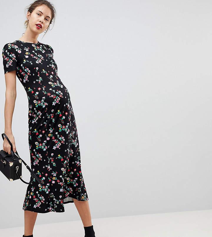 City Maxi Tea Dress In Floral Print
