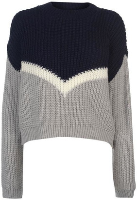 Soul Cal Soulcal SoulCal Deluxe Colour Block Knitted Jumper