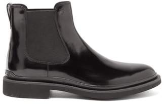 Tod's Rubber-sole Leather Chelsea Boots - Mens - Black