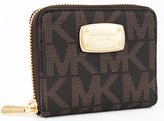 Michael Kors PVC Zip Around Bifold Wallet