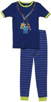 Petit Lem Music 2 Piece 'VIP' Pant PJ Set (Toddler/Kids) - Blue-3