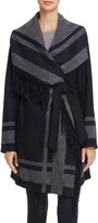Vince Camuto Novelty Knit Wrap Coat