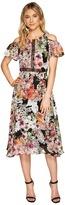 Christin Michaels Emerson Cold Shoulder Dress with Lace Inset Women's Dress