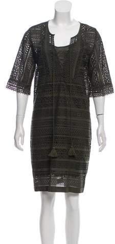 Figue Eyelet Knee-Legnth Dress