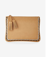Express Metallic Whipstitch Clutch