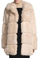 Kate Spade Banded Faux-Fur Coat, Champagne