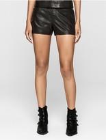 Calvin Klein Rebel Edge Leather Shorts