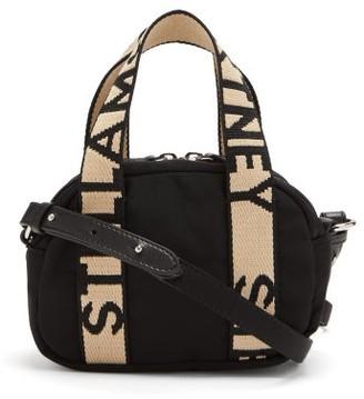 Stella McCartney Boston Mini Logo-strap Bag - Black