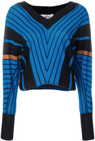 Circus Hotel striped v-neck jumper