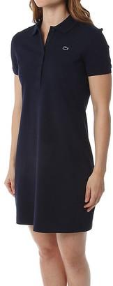 Lacoste Women's Stretch Cotton Short Sleeve Mini Pique Polo Dress