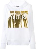 Versace metallic logo hoodie