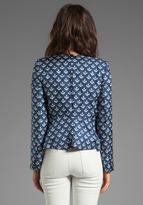 By Malene Birger Anchor Delight Ossalli Silk Print Blazer