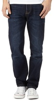 St George By Duffer Big And Tall Dark Blue Wash Straight Fit Jeans