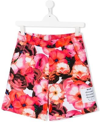 Msgm Kids TEEN floral print shorts