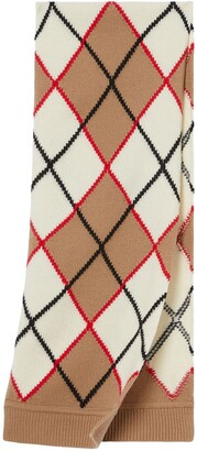 BURBERRY KIDS Argyle Intarsia Knit Scarf