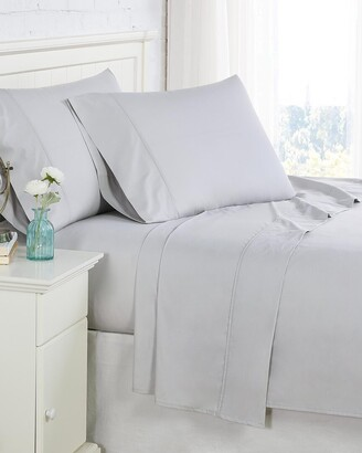 South Shore Furniture Southshore Fine Linens 300Tc Light Grey Percale Extra Deep Pocket Sheet Set