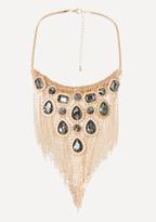 Bebe Ornate Fringe Bib Necklace