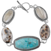 Barse Women's Sterling Silver/Genuine Stone Bracelet CATAB01MU