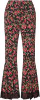 Dolce & Gabbana Floral-Print Flared Pants