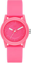 Skechers Womens Neon Pink Dial Pink Silicone Strap Analog Watch