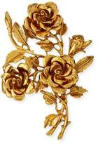Jose & Maria Barrera Golden 3D Rose Pin