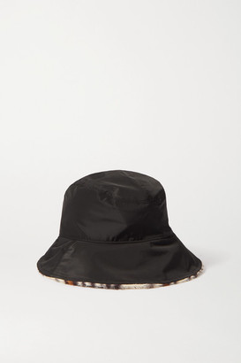 Rag & Bone Addison Reversible Shell And Leopard-print Faux Fur Bucket Hat - Black