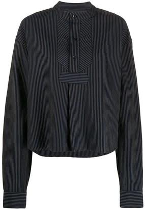 YMC Juju pinstriped shirt