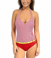 Jag BelAir Stripe Halter One Piece Swimsuit - 7538166
