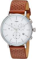 Timex Fairfield Chrono Leather Watches
