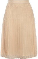 Givenchy Pleated Skirt In Beige Silk-chiffon - FR42