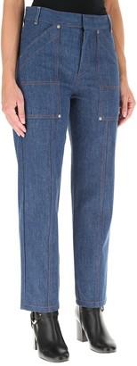 Chloé Stitching Detail Straight-Leg Jeans