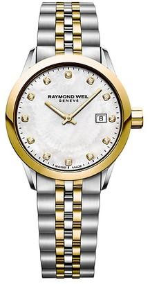 Raymond Weil Freelancer Ladies Two-Tone Stainless Steel Bracelet Watch