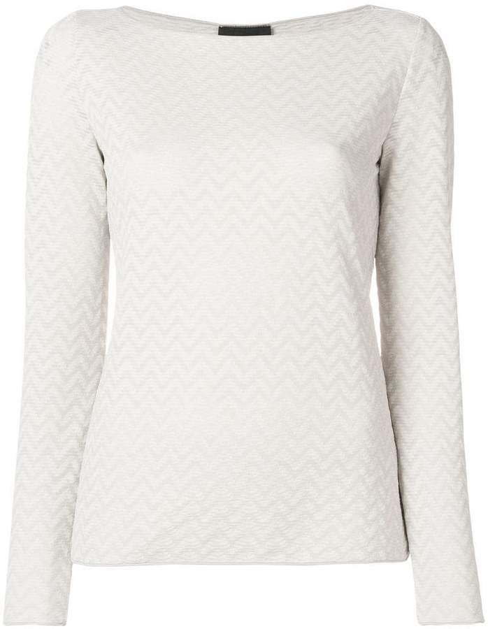 Giorgio Armani zigzag sweater