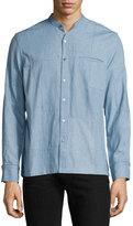 Ovadia & Sons Crosby Denim Patchwork Shirt, Light Indigo