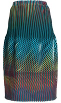 Issey Miyake Prism 2 striped and pleated skirt