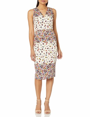 Maggy London Women's Petal Stripe Cotton Sheath
