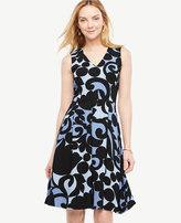 Ann Taylor Petite Tulip Flare Dress