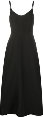 Valentino scoop-front flared midi-dress