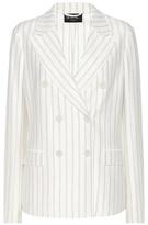 Loro Piana Striped cotton and linen jacket