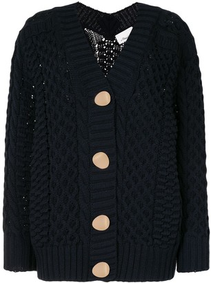 3.1 Phillip Lim Cable Cardigan W Shank Buttons