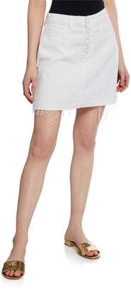 Paige Aideen Mini Skirt w/ Exposed Buttons